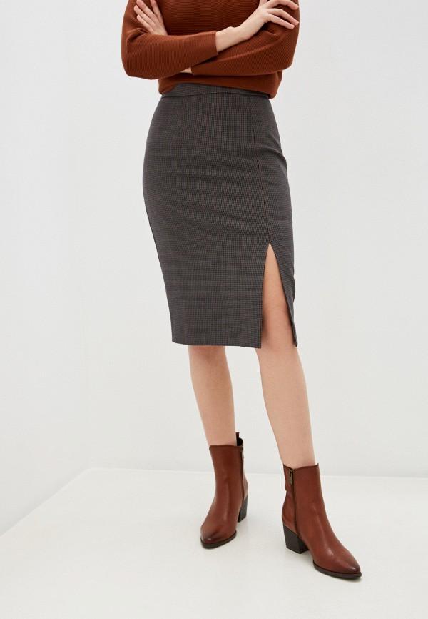 женская зауженные юбка marks & spencer, серая