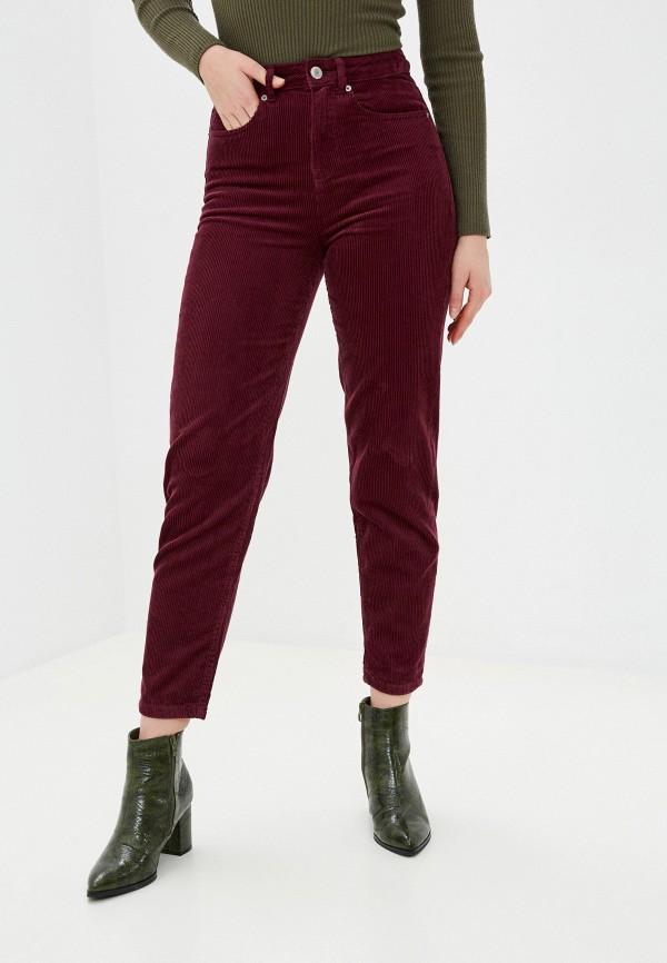 женские прямые брюки marks & spencer, бордовые