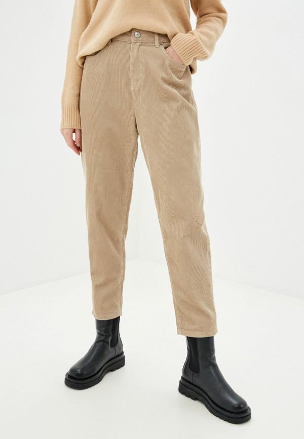 женские зауженные брюки marks & spencer, бежевые