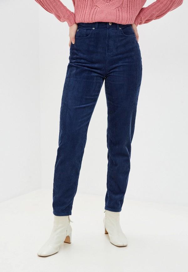 женские прямые брюки marks & spencer, синие