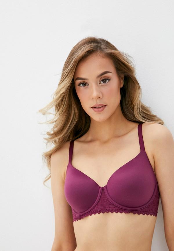женский бюстгальтер marks & spencer, фиолетовый