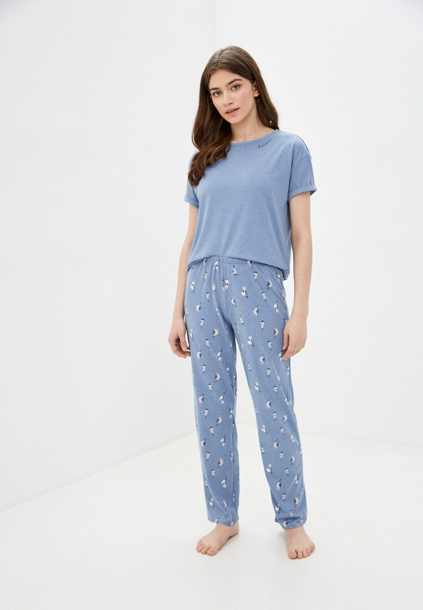 женская пижама marks & spencer, голубая