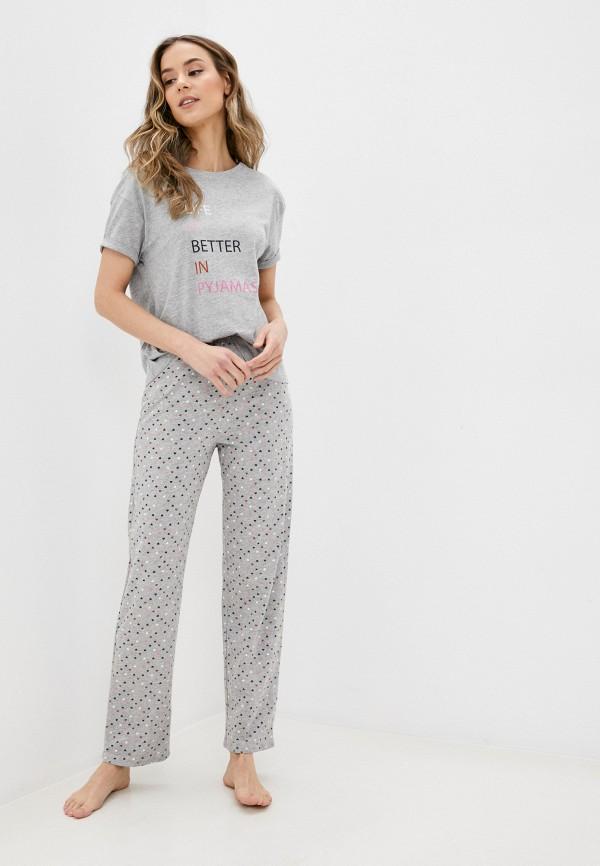 женская пижама marks & spencer, серая