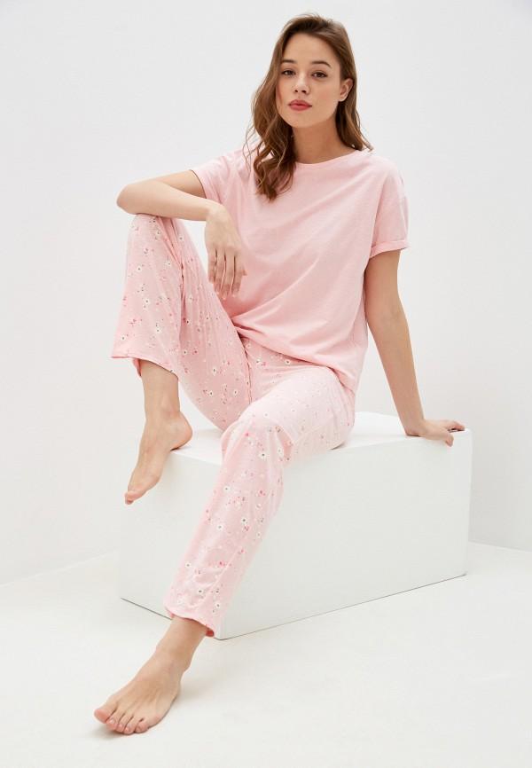 женская пижама marks & spencer, розовая