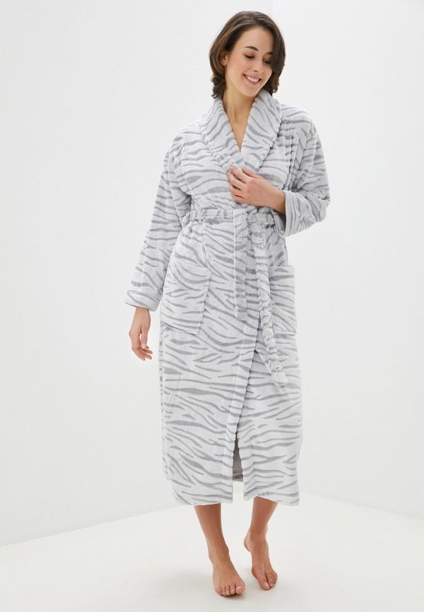 женский халат marks & spencer, серый