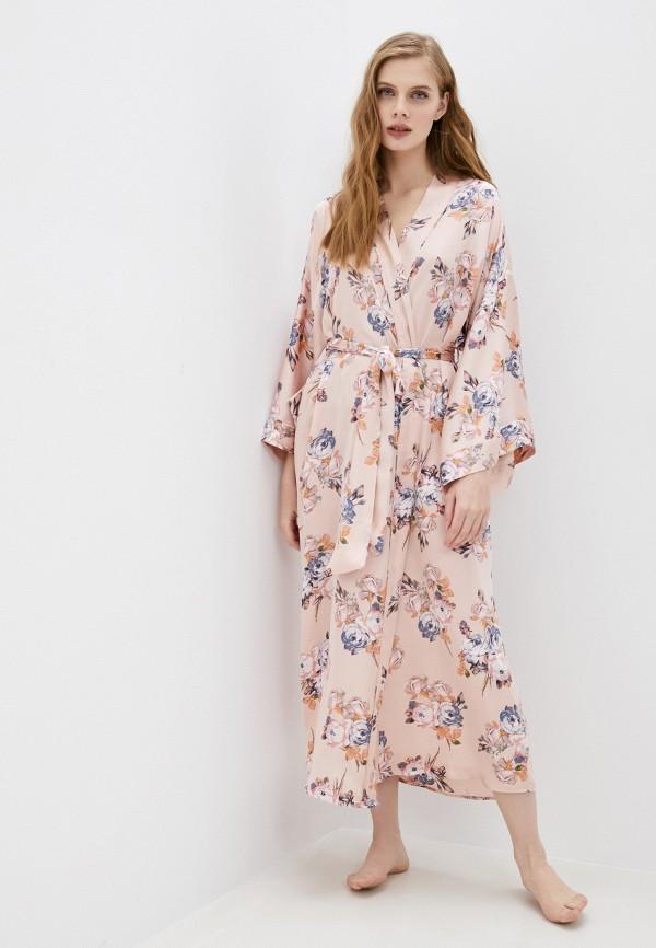 женский халат marks & spencer, розовый