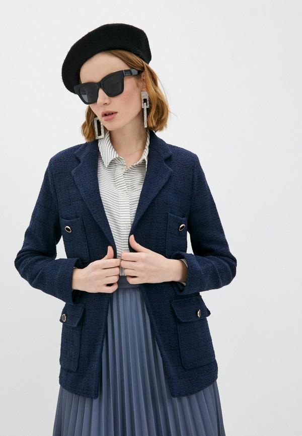 женский пиджак marks & spencer, синий