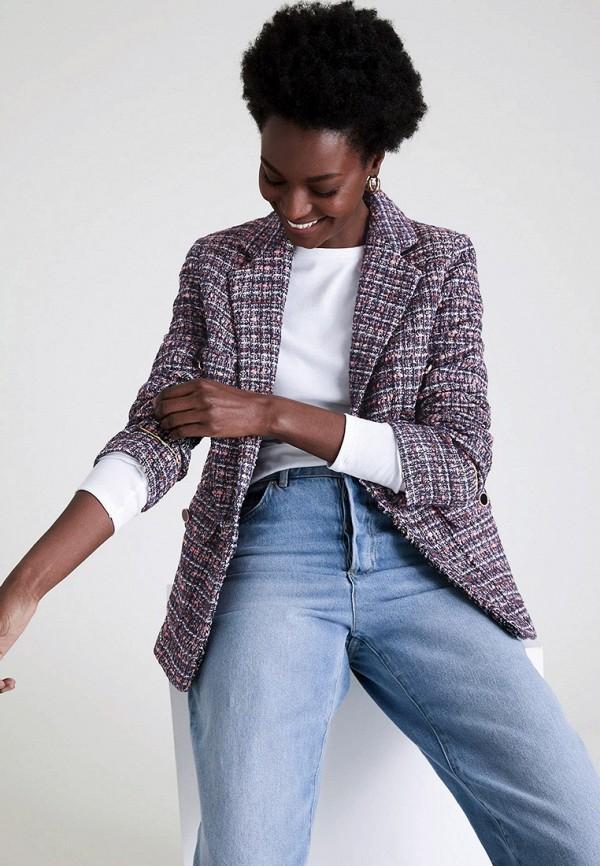 женский пиджак marks & spencer, фиолетовый