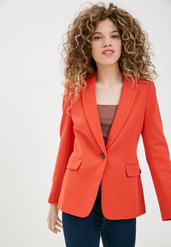 женский пиджак marks & spencer, красный