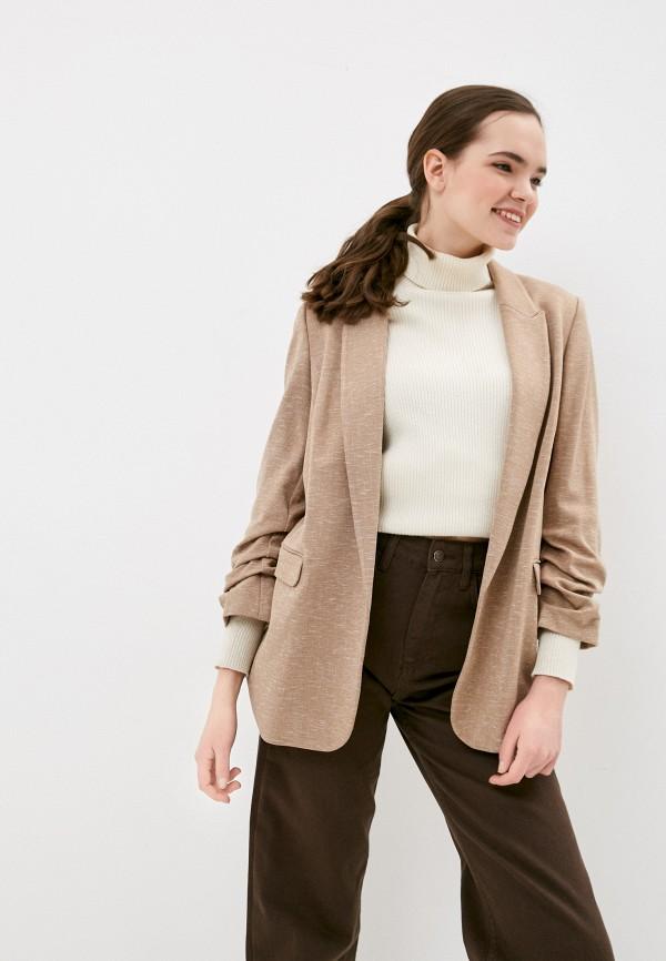 женский пиджак marks & spencer, коричневый