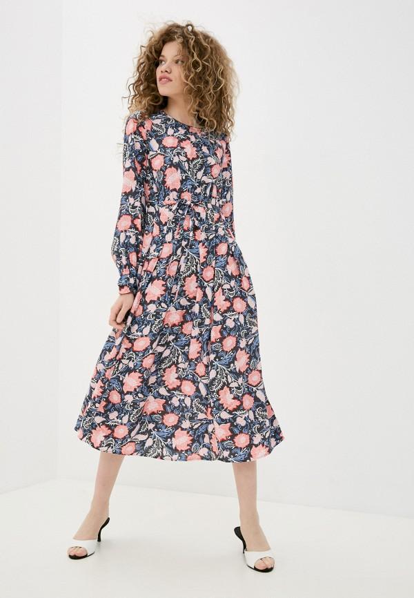 женское повседневные платье marks & spencer, разноцветное