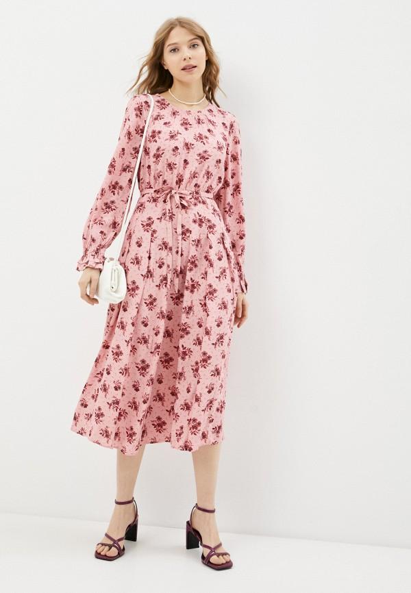 женское повседневные платье marks & spencer, розовое