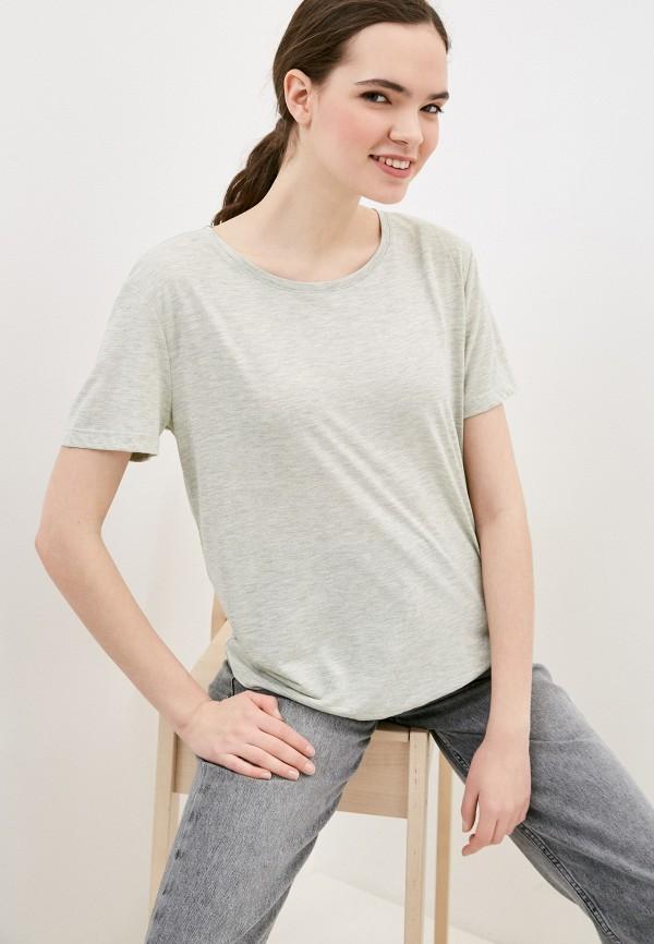 женская футболка marks & spencer, хаки