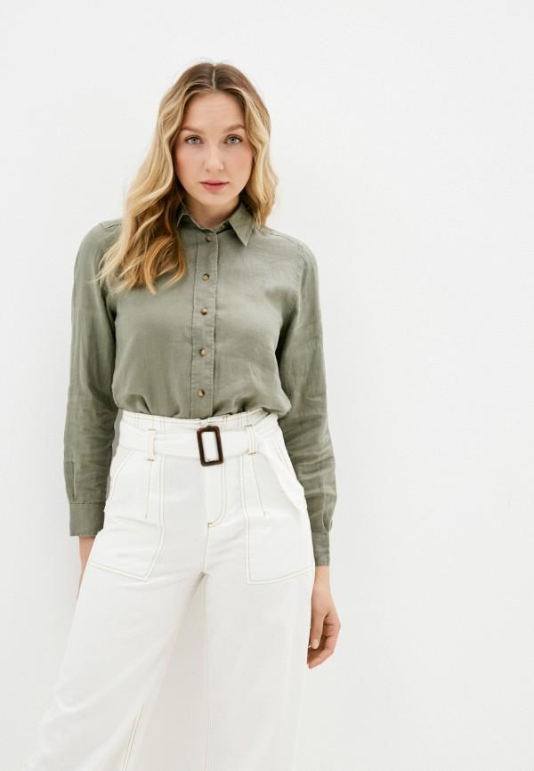 женская рубашка с длинным рукавом marks & spencer, хаки