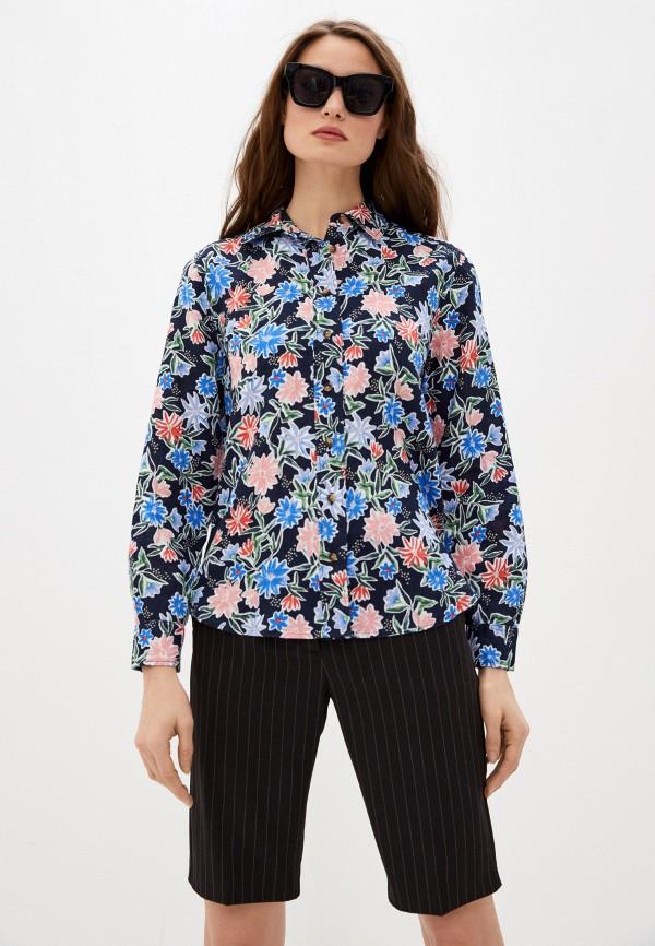 женская рубашка с длинным рукавом marks & spencer, разноцветная