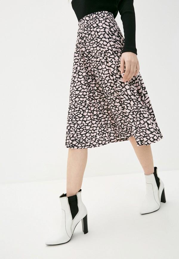 женская плиссированные юбка marks & spencer, розовая