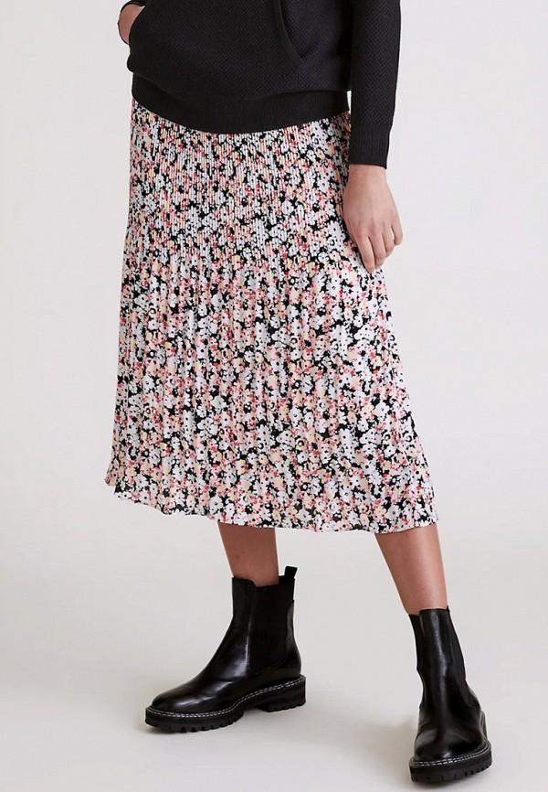 женская плиссированные юбка marks & spencer, разноцветная