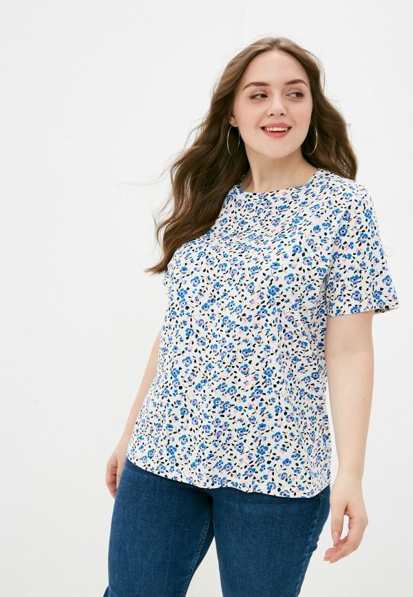 женская футболка marks & spencer, разноцветная