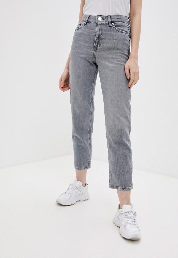 женские джинсы бойфренд marks & spencer, серые
