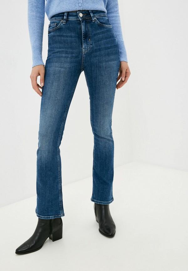 женские джинсы клеш marks & spencer, синие