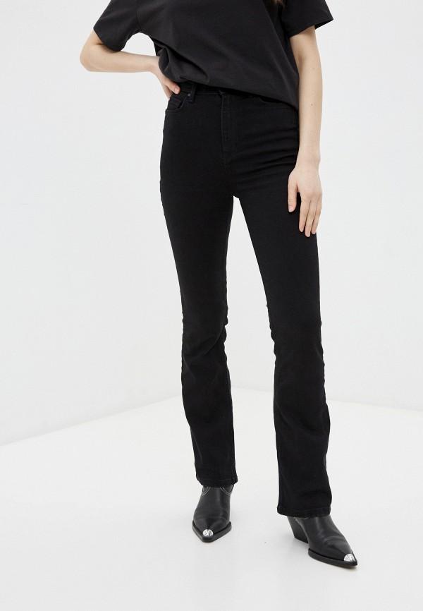 женские джинсы клеш marks & spencer, черные