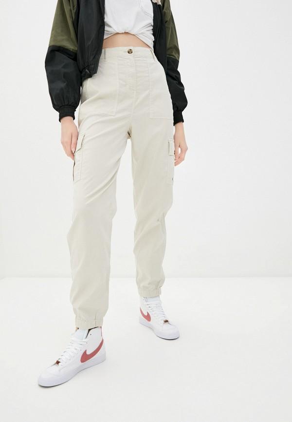 женские брюки карго marks & spencer, бежевые