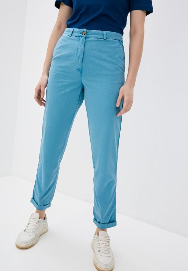 женские зауженные брюки marks & spencer, голубые