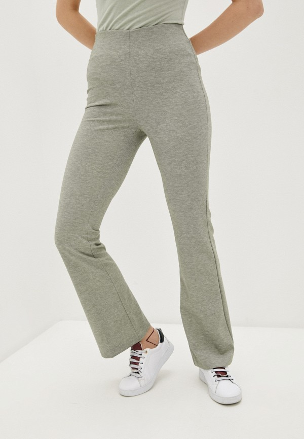 женские повседневные брюки marks & spencer, зеленые