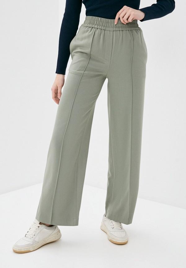 женские прямые брюки marks & spencer, зеленые