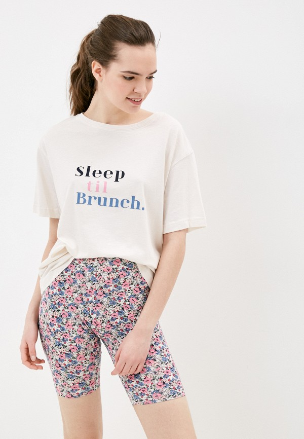 женская пижама marks & spencer, бежевая