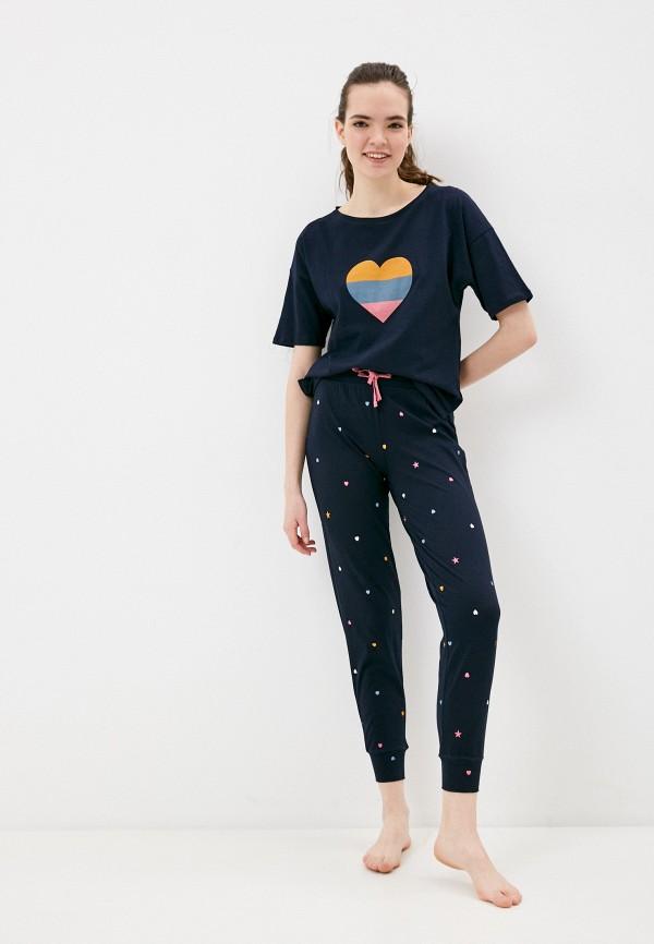 женская пижама marks & spencer, синяя