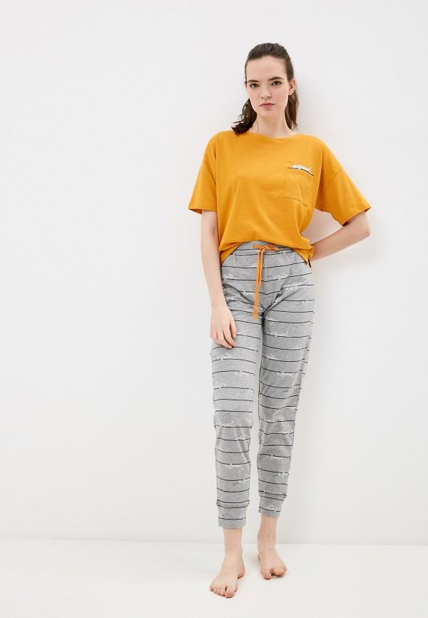 женская пижама marks & spencer, разноцветная