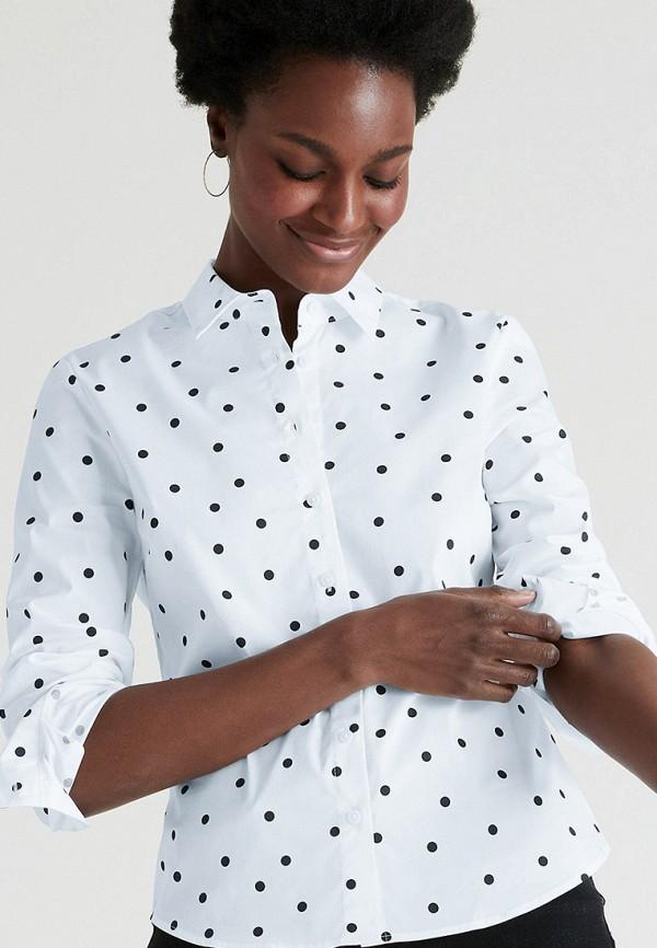 женская рубашка с длинным рукавом marks & spencer, белая