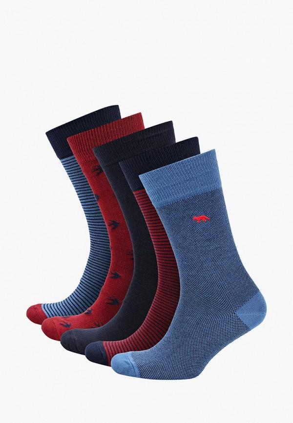Носки  бордовый, синий, черный цвета