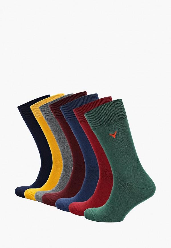 Носки  бордовый, желтый, зеленый, серый, синий цвета