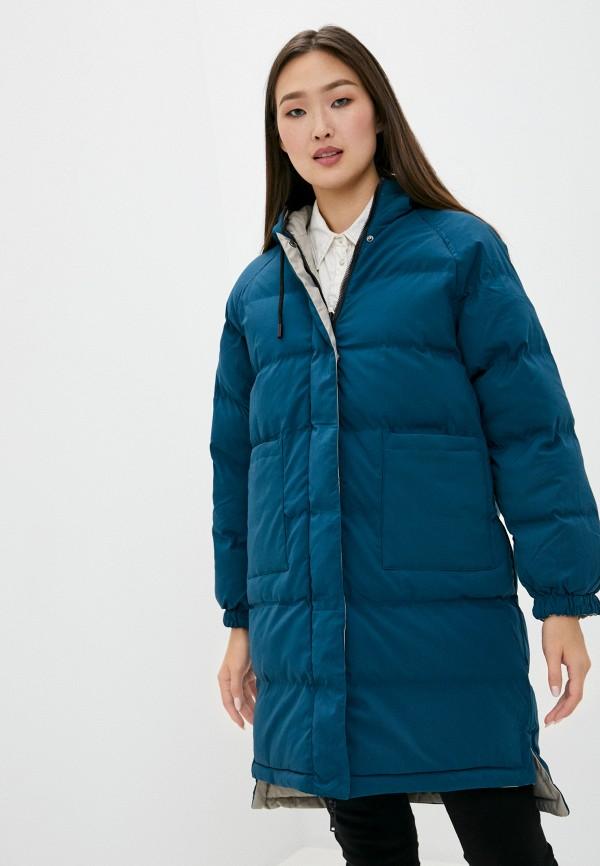 женская куртка macleria, бирюзовая