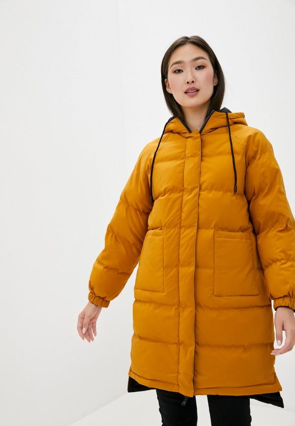 женская куртка macleria, желтая