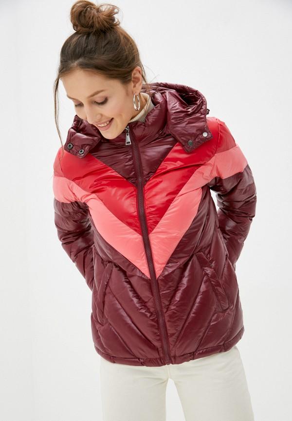женская куртка macleria, бордовая