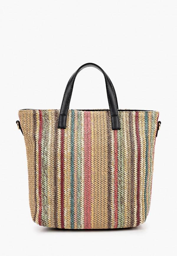 женская сумка max & enjoy, разноцветная