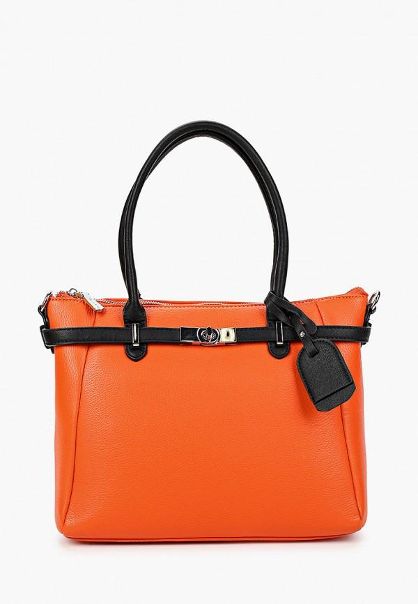 женская сумка max & enjoy, оранжевая