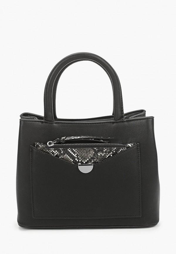 женский кошелёк с ручками max & enjoy, черный