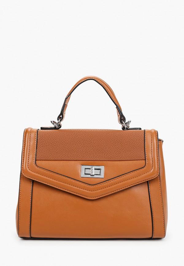 женская сумка max & enjoy, коричневая