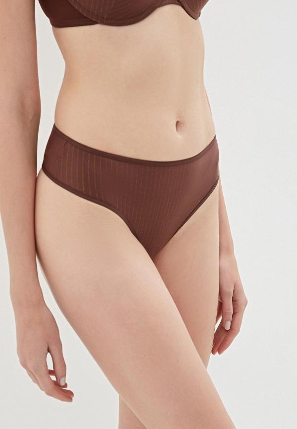 женские трусы-стринги marlies dekkers, коричневые