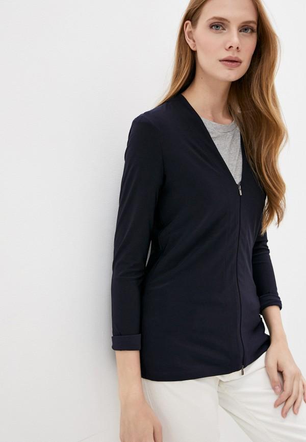 женская блузка max mara, синяя