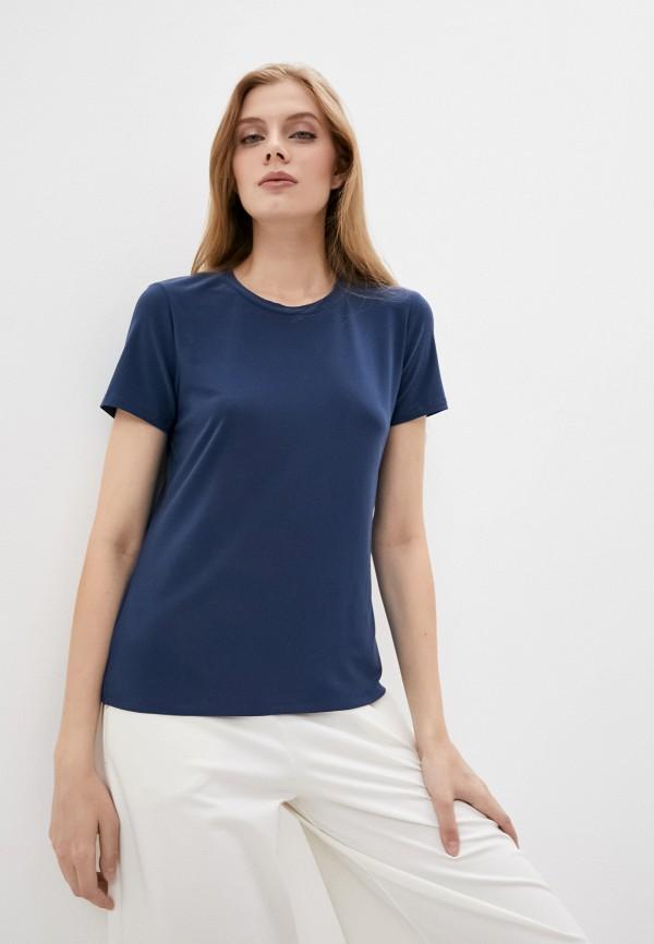 женская футболка max mara, синяя