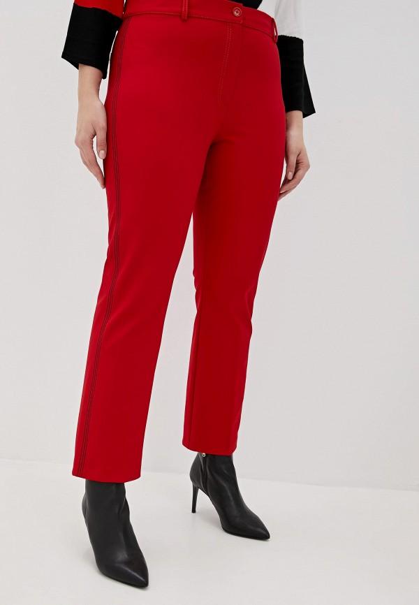 женские брюки marina sport x marina rinaldi, красные