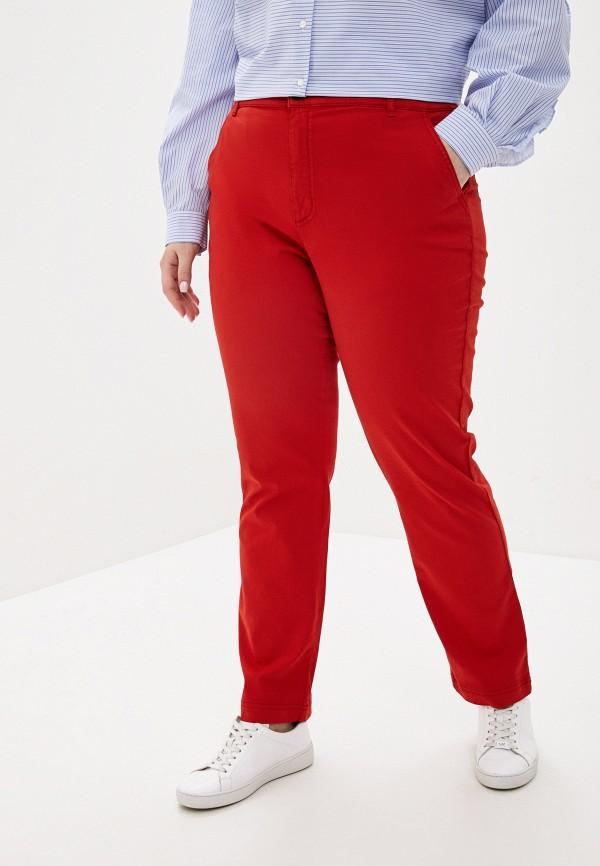 женские повседневные брюки marina sport x marina rinaldi, красные