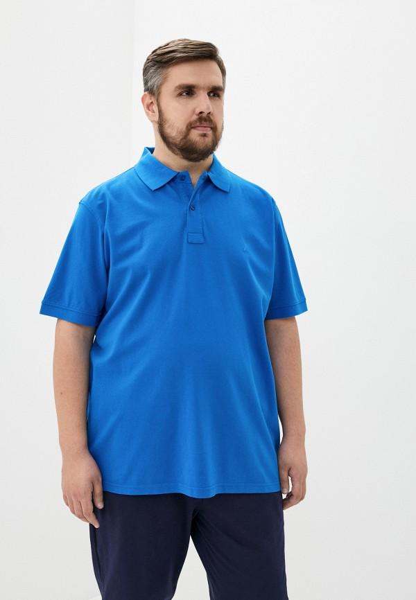 мужское поло maxfort, голубое