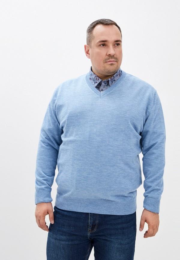 мужской пуловер maxfort, голубой