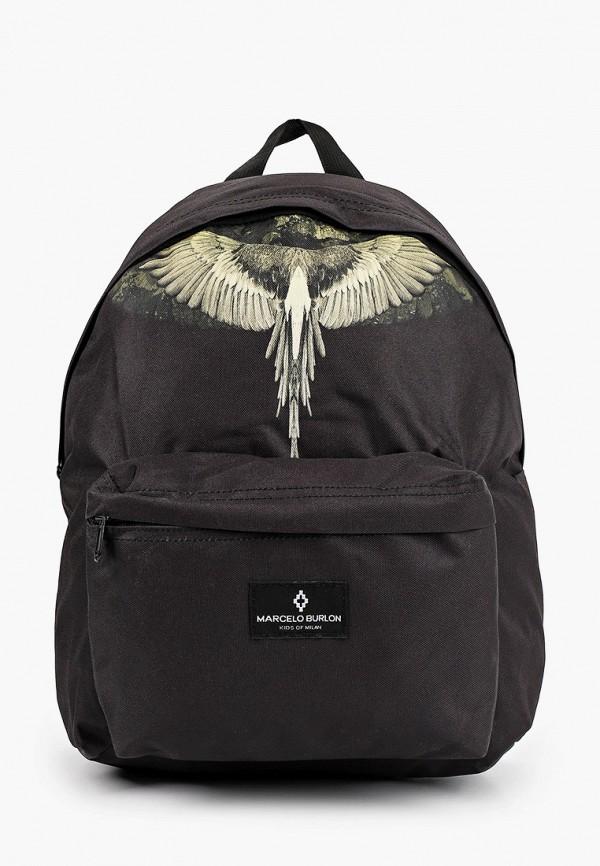 рюкзак marcelo burlon kids of milan для мальчика, черный